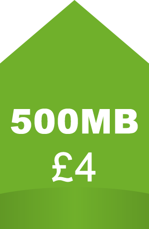 500 megabyte boost for four pounds